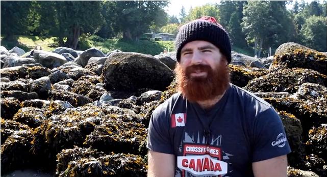 Lucas Parker de baard van de CrossFit Games
