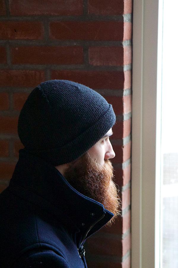 De baard van Jesse Beau van den Bos