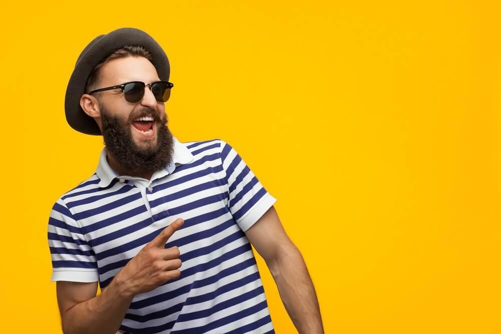 Hipster met baard